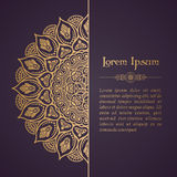Elegant Background With Lace Ornament Stock Image