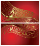 Elegant backgrounds with gold moire Stock Photography