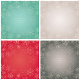 Elegant backgrounds with snowflakes. Vector illustration. Royalty Free Stock Images