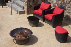 Elegant Backyard In A Napa Valley Winery Royalty Free Stock Photos