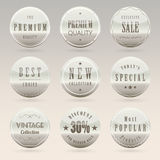 Elegant badge and label set Stock Photos