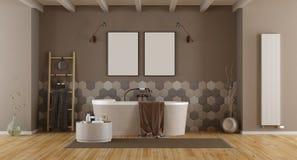 Elegant badrum med badkaret royaltyfri bild