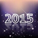 Elegant bakgrund 2015 för nytt år med stjärnor och sken Royaltyfri Bild