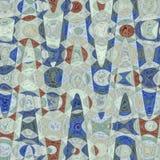Elegant bakgrund i blått och brouwnsicksackar och rundor vektor illustrationer