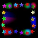 Elegant bakgrund med färgrika stjärnor och ställe för text Royaltyfri Illustrationer