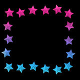 Elegant bakgrund med färgrika stjärnor och ställe för text Vektor Illustrationer