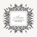Elegant bakgrund med tatueringen och ställe för text Vektor Illust Arkivbilder