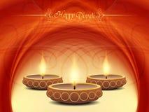 Elegant bakgrundsdesign för diwalifestival med stock illustrationer