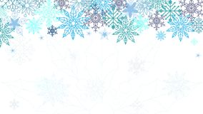 elegant bakgrundsjul Använd din webpage som är frontpage, kortet, inbjudet kort Snöflingaprydnad stock illustrationer