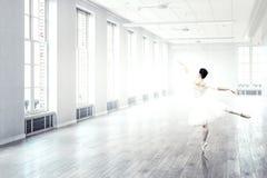 elegant ballerinadans Blandat massmedia arkivbild