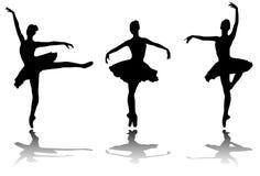 Elegant ballerinas silhouettes