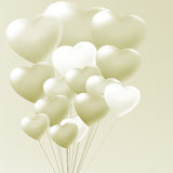 Elegant balloons heart valentine's day. EPS 8 Stock Photo