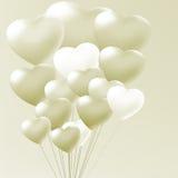 Elegant balloons heart valentine's day Stock Image