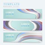 Elegant banner template design Stock Images