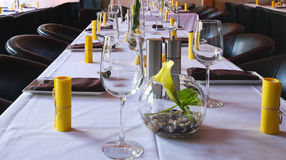 Elegant banquet table Stock Photography