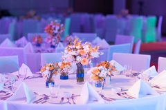 Elegant banquet table. Stock Image