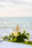 Elegant banquet wedding table setting Stock Photos