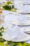 Elegant banquet wedding table setting Stock Images