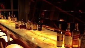 Elegant Bar Before Cocktail Event stock video