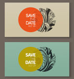 Elegant baroque badges. Elements for design. Vector illustration Royalty Free Stock Images