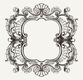 Elegant Baroque Ornate Curves  Frame Royalty Free Stock Image