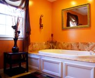 Elegant Bath. A elegant bath tub with marble tiles Stock Photos