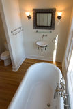 Elegant bathroom. With clawfoot tub and bowl sink Royalty Free Stock Photography