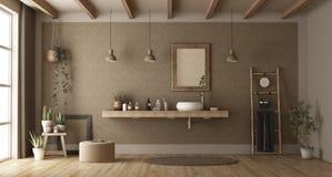 Minimalist bathroom with washbasin royalty free stock photography