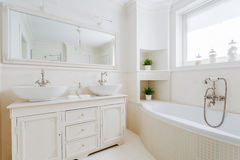 Elegant bathroom with white fittings Stock Image