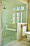 Elegant Bathroom With Glass Shower Royalty Free Stock Image