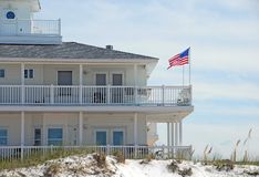 Elegant Beachfront Home Royalty Free Stock Image