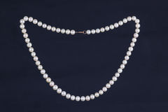 Elegant beads made of pearls Stock Photos