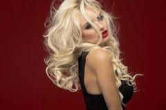 Elegant beautiful blonde woman Stock Photography