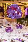 Decoration events room, wedding reception Stock Photography