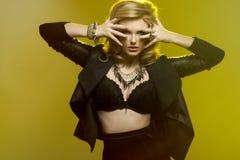 Elegant beautiful sexy woman Stock Images