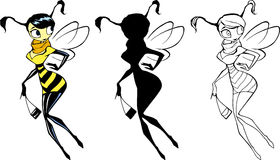 Elegant beautiful wasp lady Stock Photos