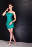 Elegant beautiful woman posing in studio. Stock Photography