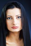 Elegant beautiful woman in shawl Stock Photo