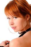 Elegant Beauty. Profile of a beautiful young woman looking over her shoulder Royalty Free Stock Photos