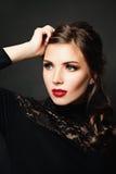 Elegant Beauty. Beautiful Stylish Woman Fashion Stock Image
