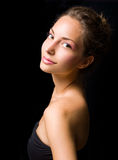 Elegant beauty shot of young brunette. Royalty Free Stock Photography