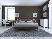Elegant bedroom interior Stock Photos