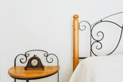 Elegant bedside table Stock Photography