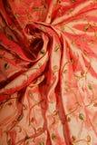 Elegant bedspread2. Elegant bedspread made of fine damask dotted with flowers royalty free stock image
