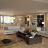 Elegant beige modern interior Royalty Free Stock Image