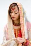 elegant bengali brud Arkivbild