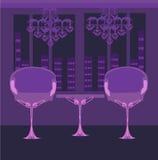 Elegant binnenlands restaurant Royalty-vrije Stock Fotografie