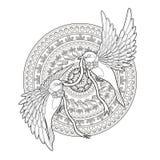 Elegant bird coloring page Royalty Free Stock Image