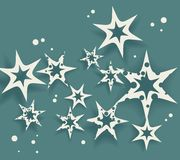 Elegant Birthday Card  with stars Stock Images