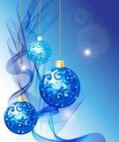 elegant blå jul för bakgrund Royaltyfri Fotografi